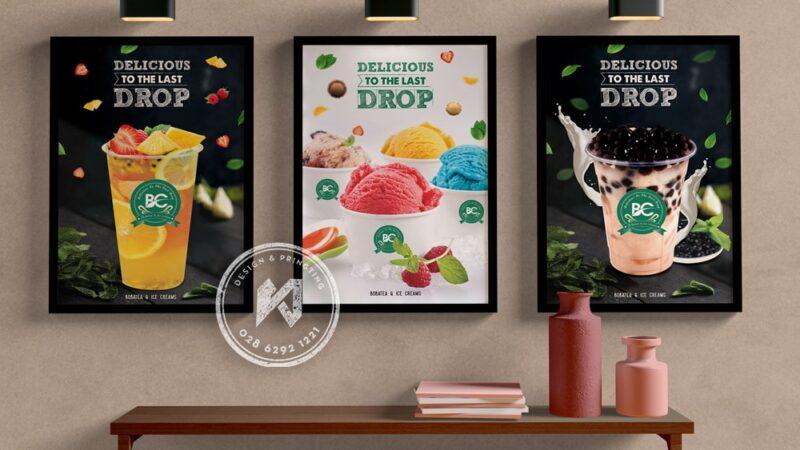 Poster quảng cáo cà phê hiệu quả chi phí thấp