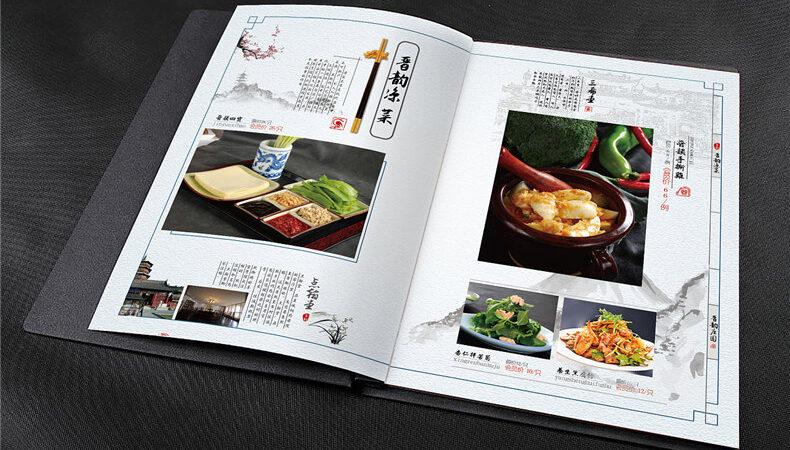 In menu nhà hàng Trung Quốc