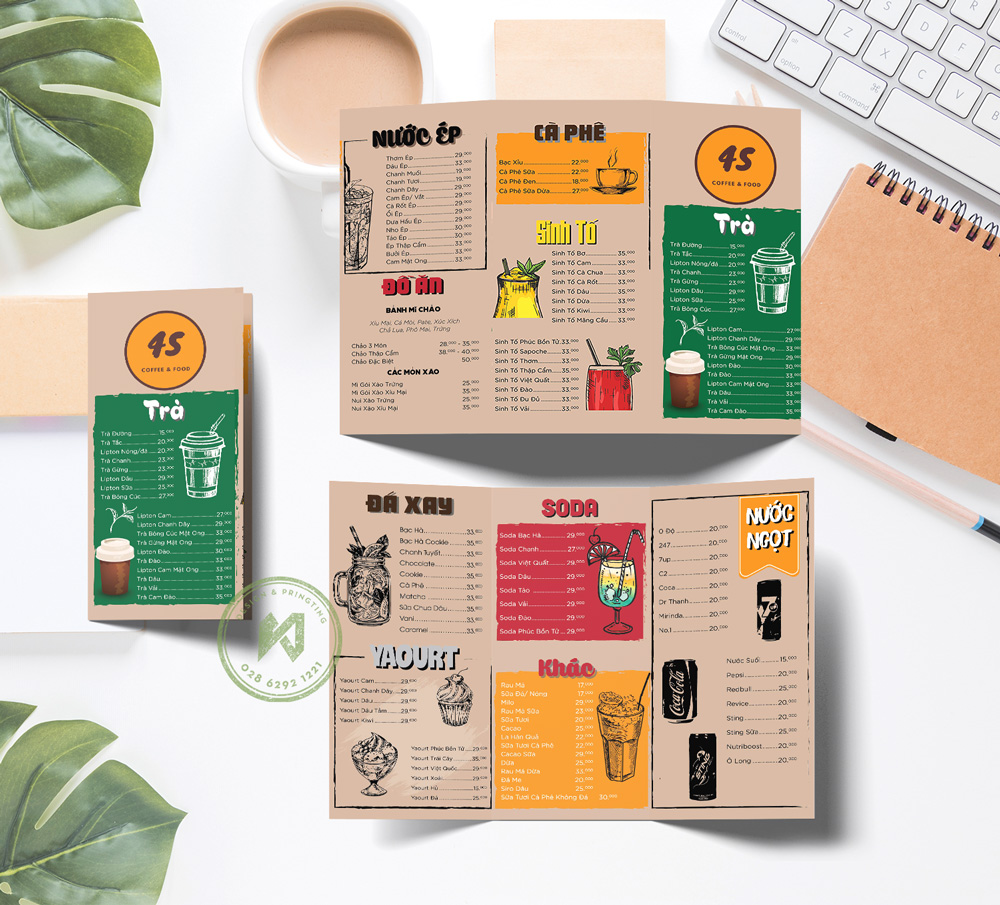 42 Coffee Menu - mẫu thiết kế menu coffee đẹp