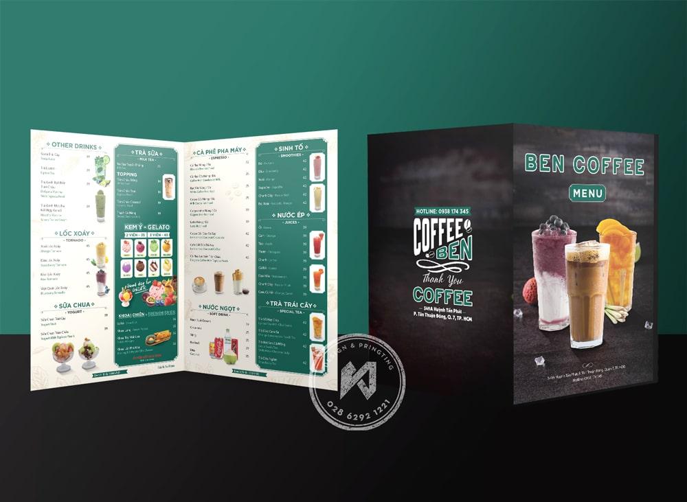 Mẫu thiết kế menu cà phê cực đẹp, hiệu quả cao